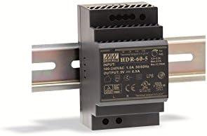 Din-Rail Fuente de alimentación 60W 24V 2,5A ; MeanWell HDR-60-24