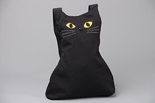 Cloth Bag Shaped Black Cat