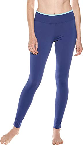 Coolibar UPF 50+ Women's Santa Cruz Swim Leggings - Sun Protective (XX-Large- Rich Royal Blue)]()