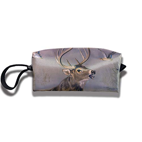 Coin Pouch Deer Stag Pen Holder Clutch Wristlet Wallets Purse Portable Storage Case Cosmetic Bags Zipper