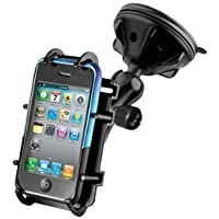 RAP-B-166-2-PD3U: RAM Universal Windshield Mount for iPhone 3/3GS/4/4S iPod Touch / HTC / Samsung / Motorola / LG / Google Android Smartphone