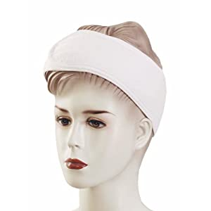Huini Toweling Headband (Thick Type) Head Band Salon Spa Facial - 10pc in 1 Package white