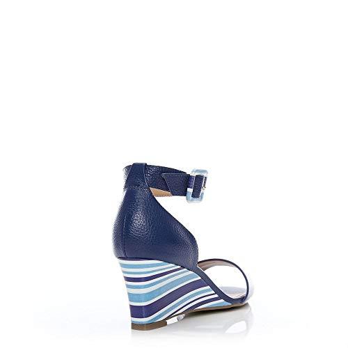 Blu Moda Sandali Donna In Pelle Blue wxwFaCqR