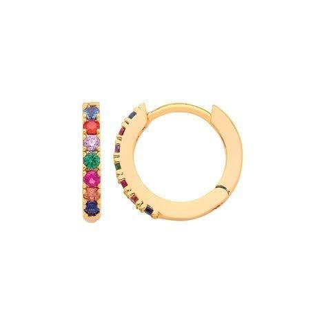 cb31e5108d Estella Bartlett Gold-Plated Huggie Rainbow Hoop Earrings: Amazon.co.uk:  Jewellery