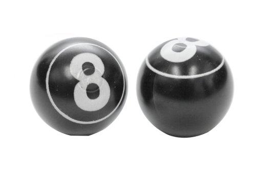 Etc 8 Ball Valve Caps Black [Sports]