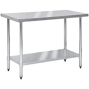 Best Choice Products 48x24in Stainless Steel Food Prep Table For Commercial  Restaurant Kitchen Use   Silver