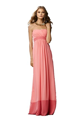 WTOO By Watters And Watters Women's Bridesmaid Dress 10 Coral/Salmon