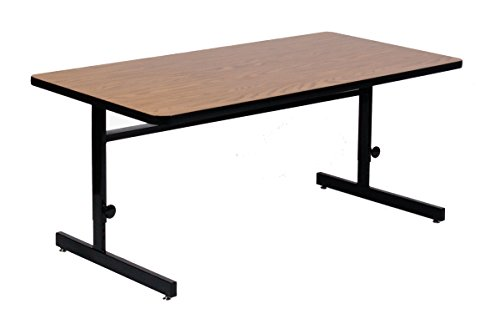 [Correll CSA3072-06 Adjustable Height  Computer & Training Table, 30