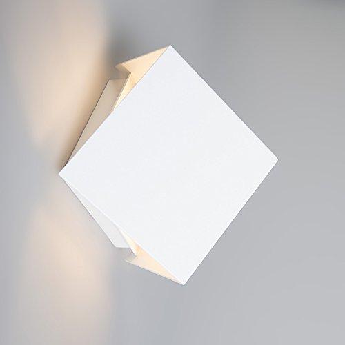 Qazqa Designmoderneapplique Murale Cube Blanc Aluminium Cube