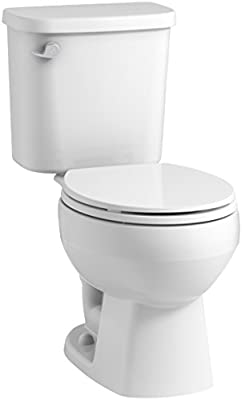 Sterling 403080-0 Windham 12-Inch Rough-In Round Front Toilet with Pro Force Technology and Left-Hand Trip Lever, White