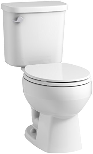 STERLING, a KOHLER Company Windham 12 In. Rough-In Round Front Toilet with Pro Force Technology and Left-Hand Trip Lever, White