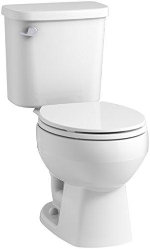STERLING, une société KOHLER Windham 12 po.  Toilette brute à devant arrondi avec technologie Pro Force et levier de déclenchement à gauche, blanc
