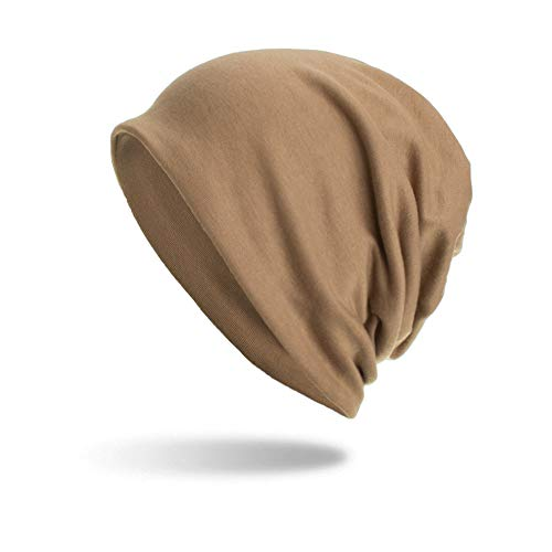 NRUTUP Knit Hats Unisex Winter Warm Baggy Weave CrochetKnit Ski Beanie Solid Color Caps Hat,Clearance Deals!(Khaki,Free Size)