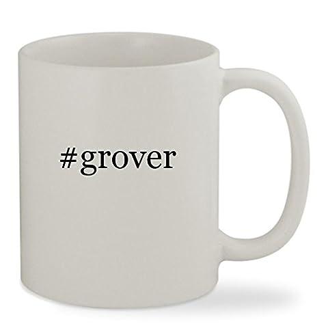 #grover - 11oz Hashtag White Sturdy Ceramic Coffee Cup Mug (Tag Junior Books Thomas)