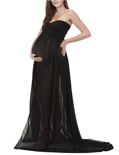 long black maternity dresses - 5