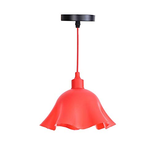 KADONNY E27 Lámparas Araña Rojo Metal Lámpara Techo ...