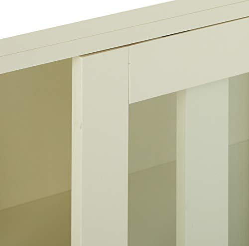 TMS Pacific Stackable Storage with Glass Door, Antique White by TMS (Image #4)