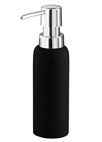 Kleine Wolke 5055926854 - Dispensador de loción y de jabón, Porcelana, 50x180 mm, Color Negro