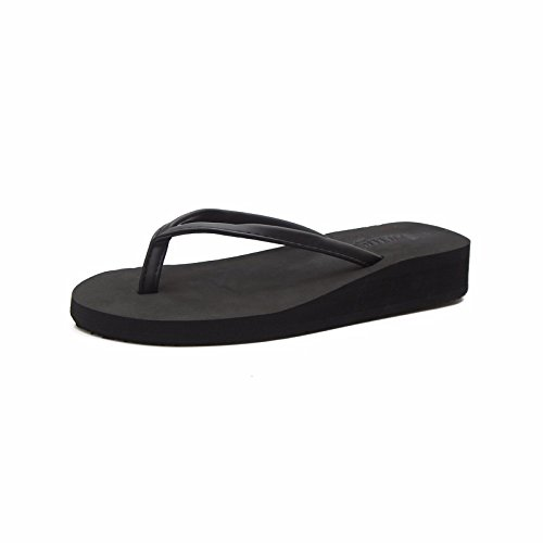 fashion with female Xia Black Flip flops anti cool bottom thick Po skid slippers XIAOGEGE wear Tqfvx
