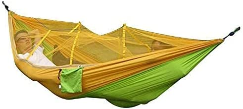 RVTYR Portable Outdoor Camping Hammock with Mosquito Net Parachute Fabric Tent Backpacking Travel Survival Hunting Sleeping Bed Hot Gifts for Hikers Lazy Chair/K Hanging Chair (Color : J)