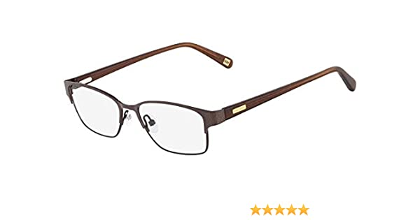 8cc6915891 NINE WEST Eyeglasses NW1031 200 Chocolate 50MM at Amazon Men s Clothing  store