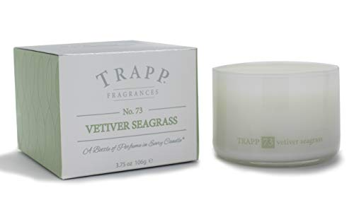 - Trapp Ambiance Collection Poured Scented Candle, 3.75 Ounces - No. 73 Vetiver Seagrass