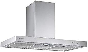 Campana Nibels Ccti 90 Bt 600M3/H 3 Niveles 69Db 90Cm: Amazon.es: Grandes electrodomésticos