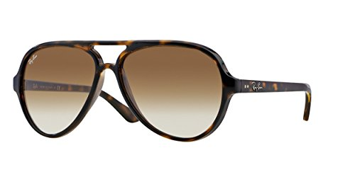 Ray-Ban Women's Pilot Aviator Sunglasses, Matte Havana/Light Brown, One Size