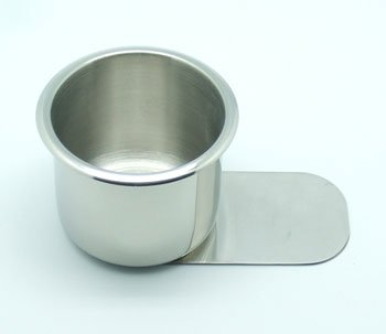 New JPC Slide Under Stainless Steel Cup Holder Small Classy Appearance Highly Durable Standard Size