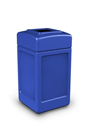 42 Gallon Square Waste Container Color: Blue by Commercial Zone