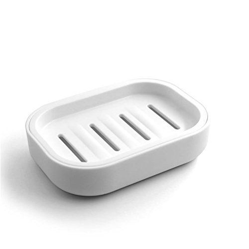 Michael Soap Dish - Mosuch PP Plastic Soap Box Dish Soap Container Keeps Soap Dry Easy Cleaning Drain Hole White