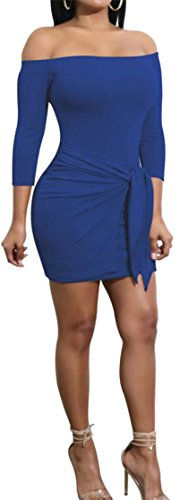 Bodycon Di Delle Off Marina Benda Spalla Midi Cruiize Di Di Base Veste Donne Club z4wSwqCU