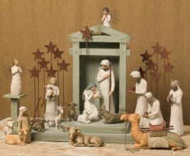 Willow Tree 21 Piece Nativity Set By Susan Lordi Includes Peace On Earth with Go Green Compressed Bamboo Towels