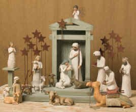 - Willow Tree 21 Piece Nativity Set By Susan Lordi (Includes Peace On Earth) with Go Green! Compressed Bamboo Towels