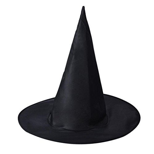 [Bolayu Adult Womens Witch Hat For Halloween Costume Accessory] (Deluxe Smoke Mask)