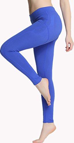 RUNNING GIRL - Legging de sport - Femme bleu bleu S/M -  bleu - Large