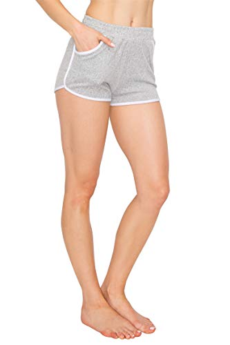 ALWAYS Women Riverdale Merchandise Shorts - Knitted Stretch Dolphin Yoga Workout Cheerleader Dance Volleyball Short Pants with Stripes Grey S]()