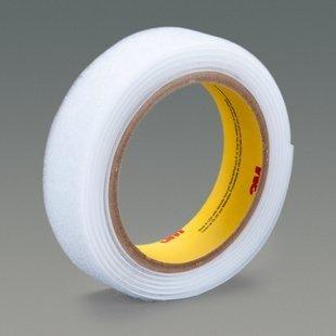 3M Scotchmate SJ3519FR White Hook & Loop Tape - Hook with 300 hooks/in Stem Count - 1 in Width - Flame Retardant - 38268 [PRICE is per ROLL]