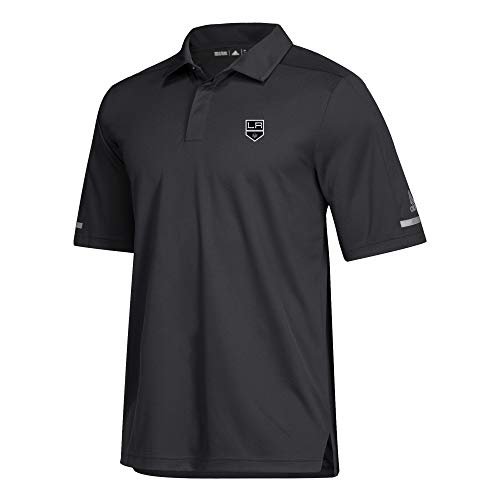 King Golf Shirt - adidas NHL 2018 Mens Authentic Game Day Polo Shirt (X-Large, Los Angeles Kings)