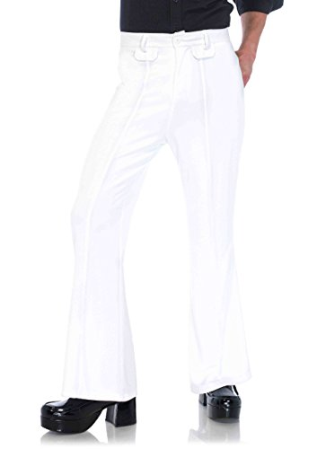 Leg Avenue Men's Bell Bottom Disco 70s Pants, White Small/Medium]()