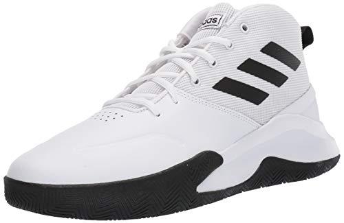 adidas Men's OwnTheGame Basketball Shoe, Black/White, 14 M US