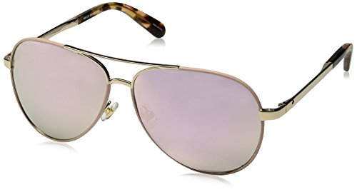 - Kate Spade New York Women's Amarissa/s Aviator Sunglasses, Gold Pink, 59 mm