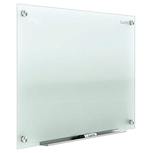Quartet Glass Whiteboard, Non-Magnetic Dry Erase White Board, 8' x 4', Infinity, Frosted Surface (G9648F) - G9648F-A (Certified Refurbished)