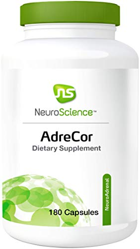 NeuroScience AdreCor - Adrenal Energy Support Complex with Rhodiola and Histidine to Help Reduce Fatigue and Stress (180 Capsules)