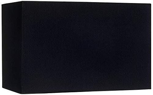 Black Rectangular Hardback Lamp Shade 8/16x8/16x10 (Spider) - Brentwood
