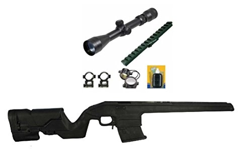 ProMag AA9130 Archangel Stock, Stealth Black Bundle with Ultimate Arms Gear 2-7x32 Long Eye Relief Scope Package + Mosin Nagant Scout Weaver Mount