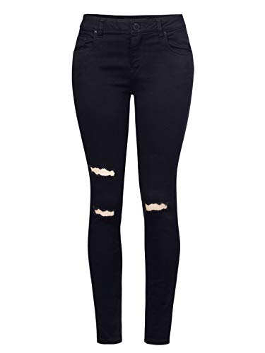Design by Olivia Women's Classic High Rise Denim Stretchy Skinny Jeans Black 7