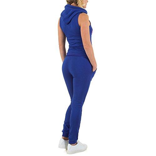 Freizeit Fitness Zweiteiler Overall Für Damen , Blau In Gr. S bei Ital-Design