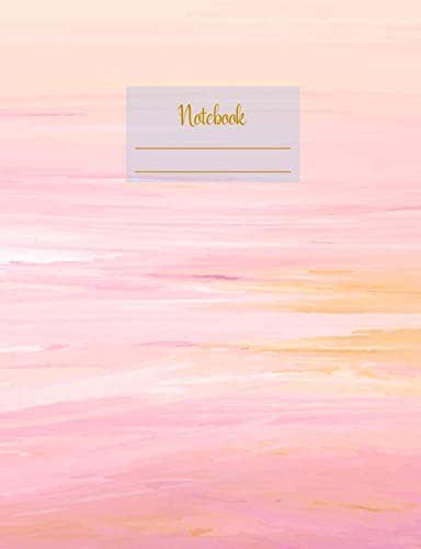 """Notebook: Composition Notebook. College ruled with soft matte cover. 120 Pages. Perfect for school notes, Ideal as a journal or a diary. 9.69"""" x ... (Pink orange pastel colors design cover)."""