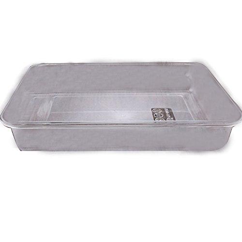 OMEM Reptile food bowl large water dish, wood plate, bowl turtles (S=27214.7, White)